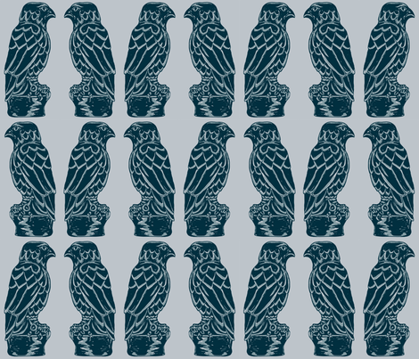 Maltese Falcon - film noir fabric by elramsay on Spoonflower - custom fabric