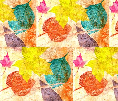 leaves on my walk fabric by artfulhandstudio on Spoonflower - custom fabric