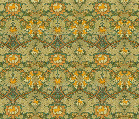 William Morris' Autumn Horses fabric by ragan on Spoonflower - custom fabric