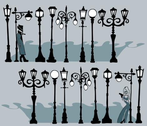 Lamplight fabric by kitkatdesigns on Spoonflower - custom fabric