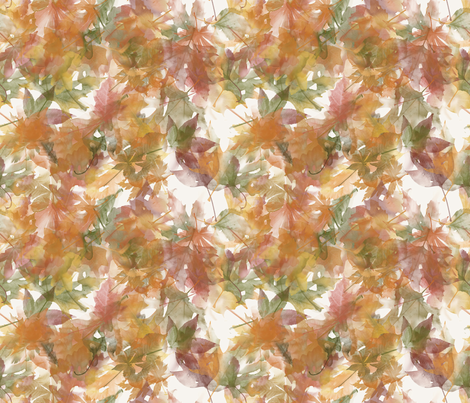foglie fabric by aliceelettrica on Spoonflower - custom fabric