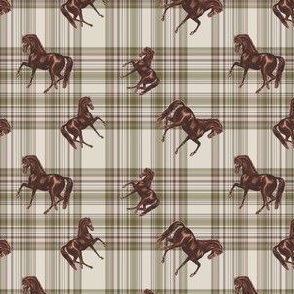 The 50's Plaid Horse