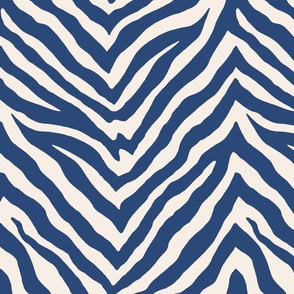 Zebra in Navy