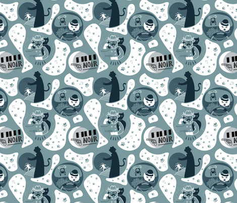 film noir fabric by yuliuss on Spoonflower - custom fabric