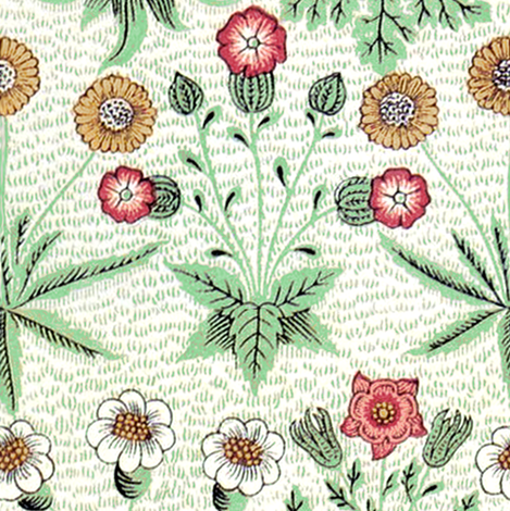 William Morris Daisy ~ Peacoquette's Palette  fabric by peacoquettedesigns on Spoonflower - custom fabric