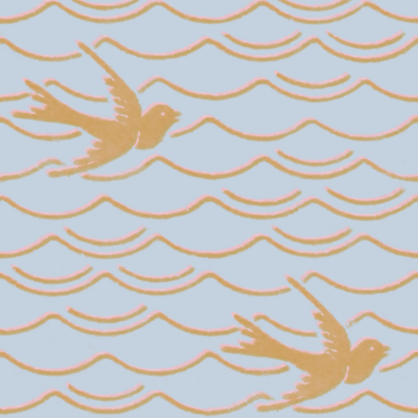 Birds Upon The Sea ~ Versailles Fog with Dauphine and Gilt fabric by peacoquettedesigns on Spoonflower - custom fabric