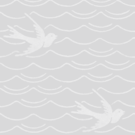 Birds Upon The Sea ~ Silver Leaf & White fabric by peacoquettedesigns on Spoonflower - custom fabric