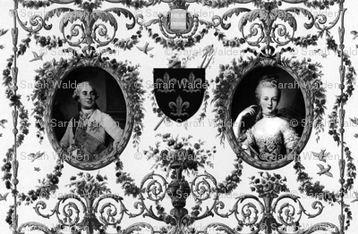 Rococo Lovers ~ Louis XVI and Marie Antoinette ~ Black and White
