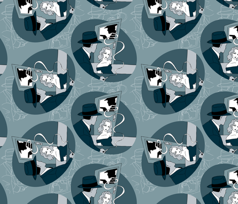 FilmNoirFabricSquare fabric by aheyse on Spoonflower - custom fabric