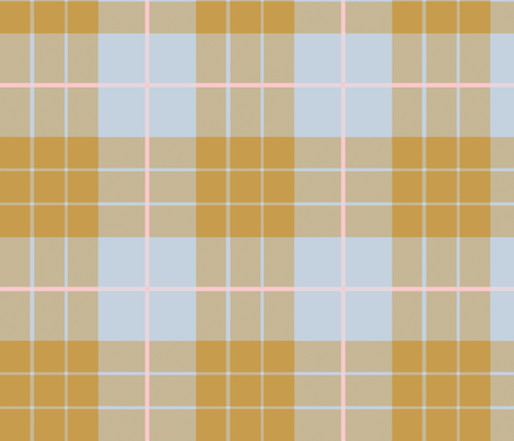 Versailles Fog Plaid ~ Gilt fabric by peacoquettedesigns on Spoonflower - custom fabric