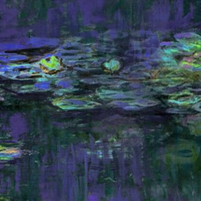 Claude Monet ~ Waterlilies ~ At Night