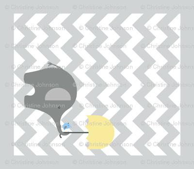 Zekie Chevron Quilt /buttercup