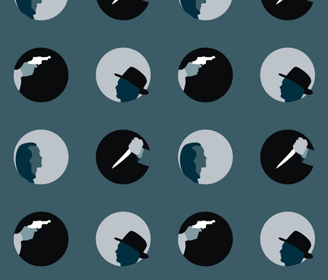Film Noir Polka fabric by smuk on Spoonflower - custom fabric