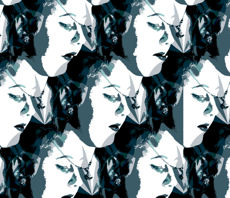 filmnoir fabric by rennata on Spoonflower - custom fabric