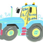 'Chug Chug, Putt Putt'   Hand Painted Tractor by Samantha Barnes