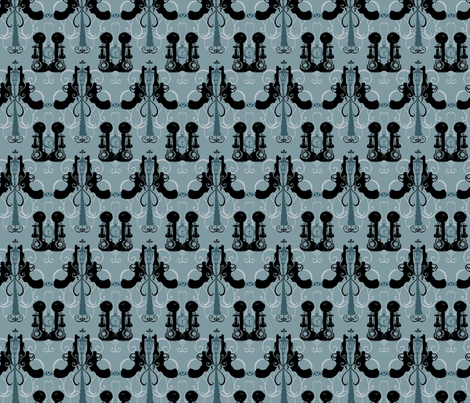Film Noir Damask - Light fabric by twoifbyseastudios on Spoonflower - custom fabric