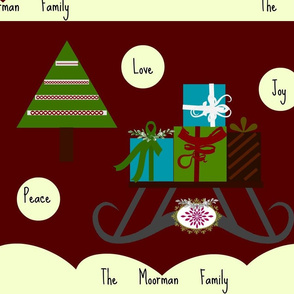 Sleigh Ride Peace Love Joy-Personalized