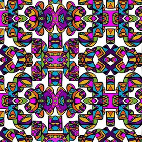Intrinsic Tribe Design 2/ Color/Wht Bckgrnd