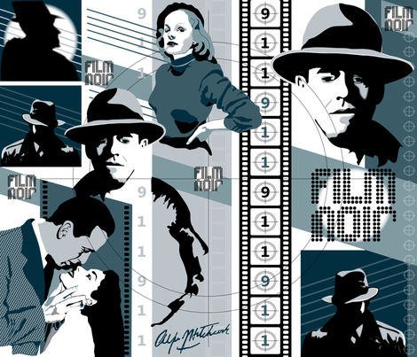 Film Noir fabric by paula's_designs on Spoonflower - custom fabric