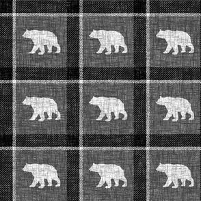Bear Plaid - dark