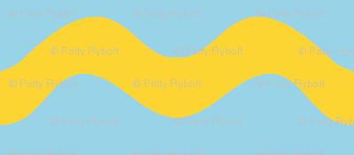Stormy Sea Stripe (blue + yellow)