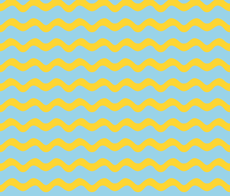 Stormy Sea Stripe (blue + yellow) fabric by pattyryboltdesigns on Spoonflower - custom fabric