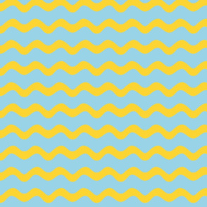 Stormy Sea Stripe (blue + yellow)