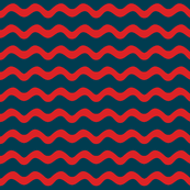 Stormy Sea Stripe (navy blue + red)