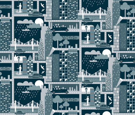 Rainy & Criminal Night fabric by demigoutte on Spoonflower - custom fabric