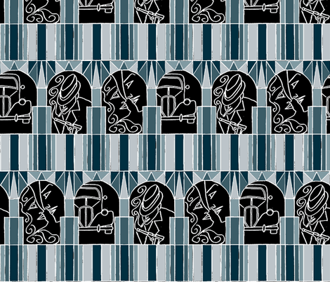 Film Noir Deco Style fabric by ms_majabird on Spoonflower - custom fabric