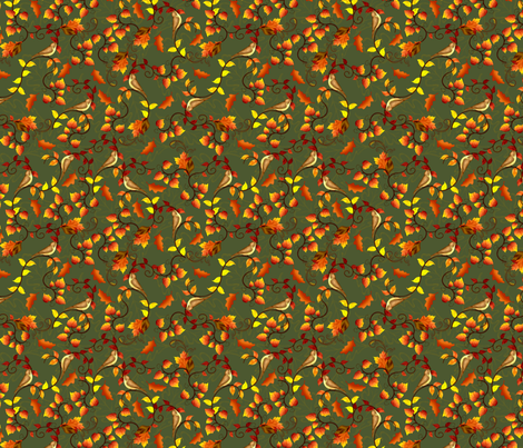 cp_Fall_leaves_and_Birds fabric by cindypie on Spoonflower - custom fabric