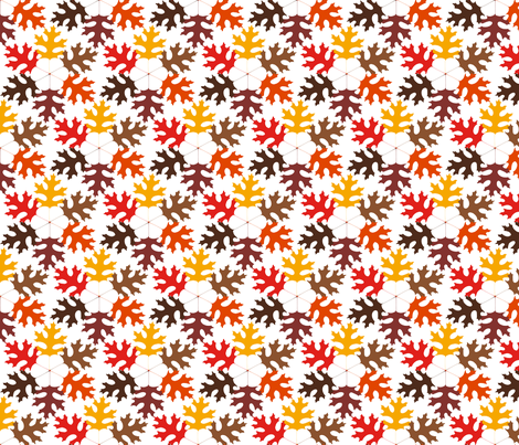 Hexagon Leaves fabric by toothpanda on Spoonflower - custom fabric