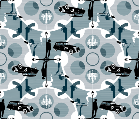 Julie's Film Noir fabric by juliesfabrics on Spoonflower - custom fabric