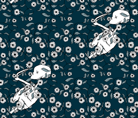Lovely Bones fabric by pond_ripple on Spoonflower - custom fabric