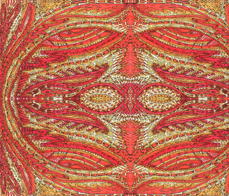 Red and Golds fabric by melchristy on Spoonflower - custom fabric