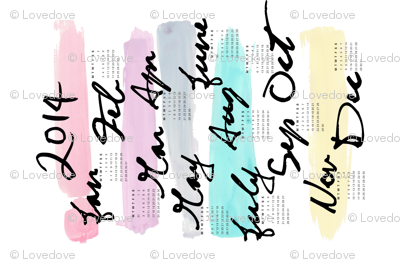 LOVE DOVE 2014 Tea Towel