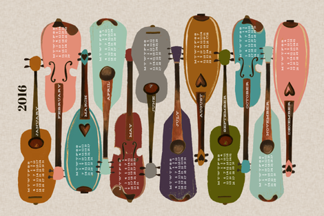 2016 Instrument Collection - Modern fabric by andrea_lauren on Spoonflower - custom fabric