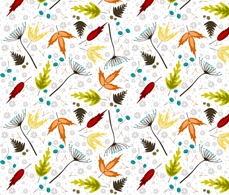 Falling Leaves fabric by fat_bird_designs on Spoonflower - custom fabric