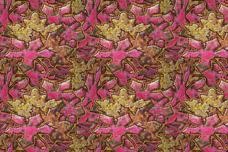 An Applique of Autumn Leaves fabric by anniedeb on Spoonflower - custom fabric
