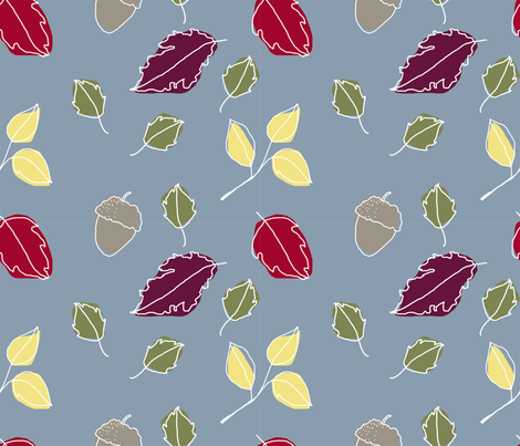 fallleaves fabric by elinor_sterry on Spoonflower - custom fabric