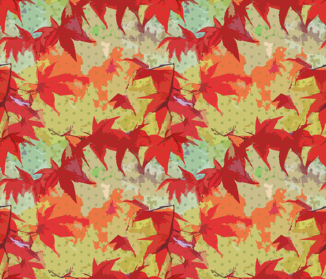 Japanese Maple In The Fall fabric by chantal_pare on Spoonflower - custom fabric