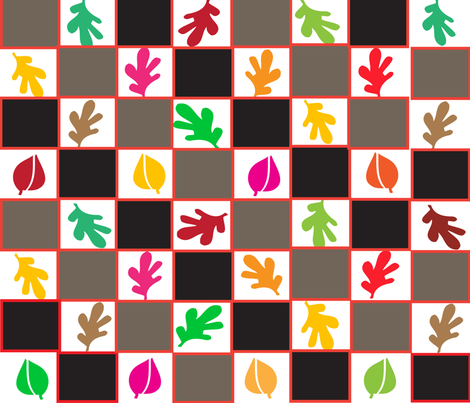 SOOBLOO__FALL_LEAVES_ONE-01 fabric by soobloo on Spoonflower - custom fabric