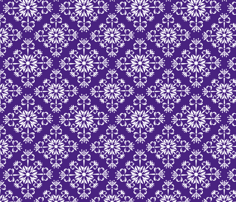 Christmas Damask Purple fabric by leeandallandesign on Spoonflower - custom fabric