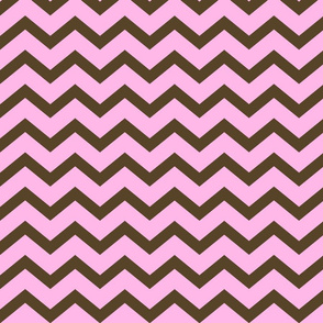 Pink and Brown Chevron