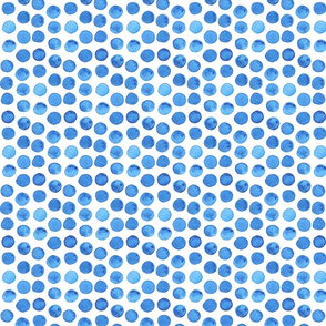 Dark Blue Watercolor Dots