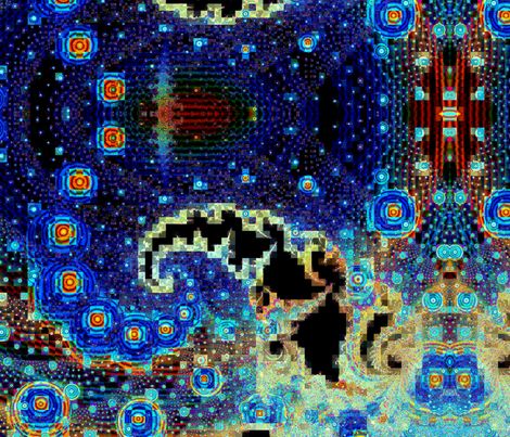 Starry Night in the Paisley Galaxy and Homer Donut System- Cosmic Voyage
