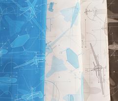 Aerodynamics (Blue & White)