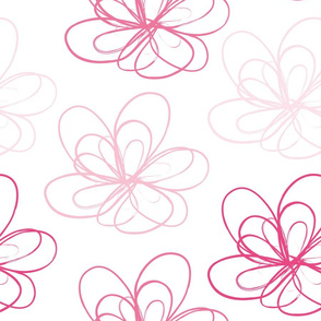 Pink Scribble Flower