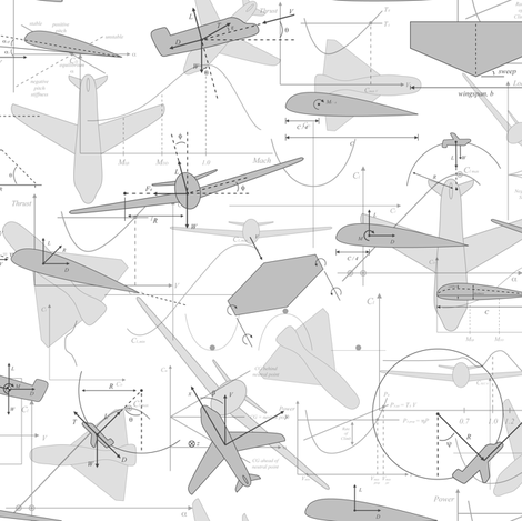 Aerodynamics (Gray & White) fabric by robyriker on Spoonflower - custom fabric