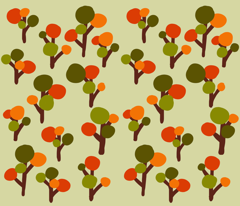 Fall Trees fabric by catrou on Spoonflower - custom fabric